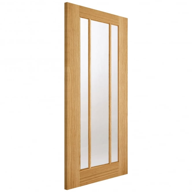 LPD Internal Oak Fully Finished Lincoln 3 Light Door With Clear Glass