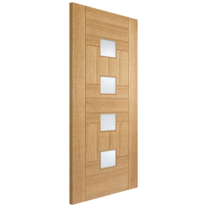 LPD Internal Oak Fully Finished Quebec Glazed Supermodel Door