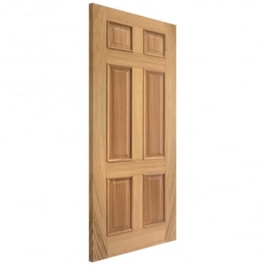 Internal Oak Fully Finished Regency 6 Panel Fire Door