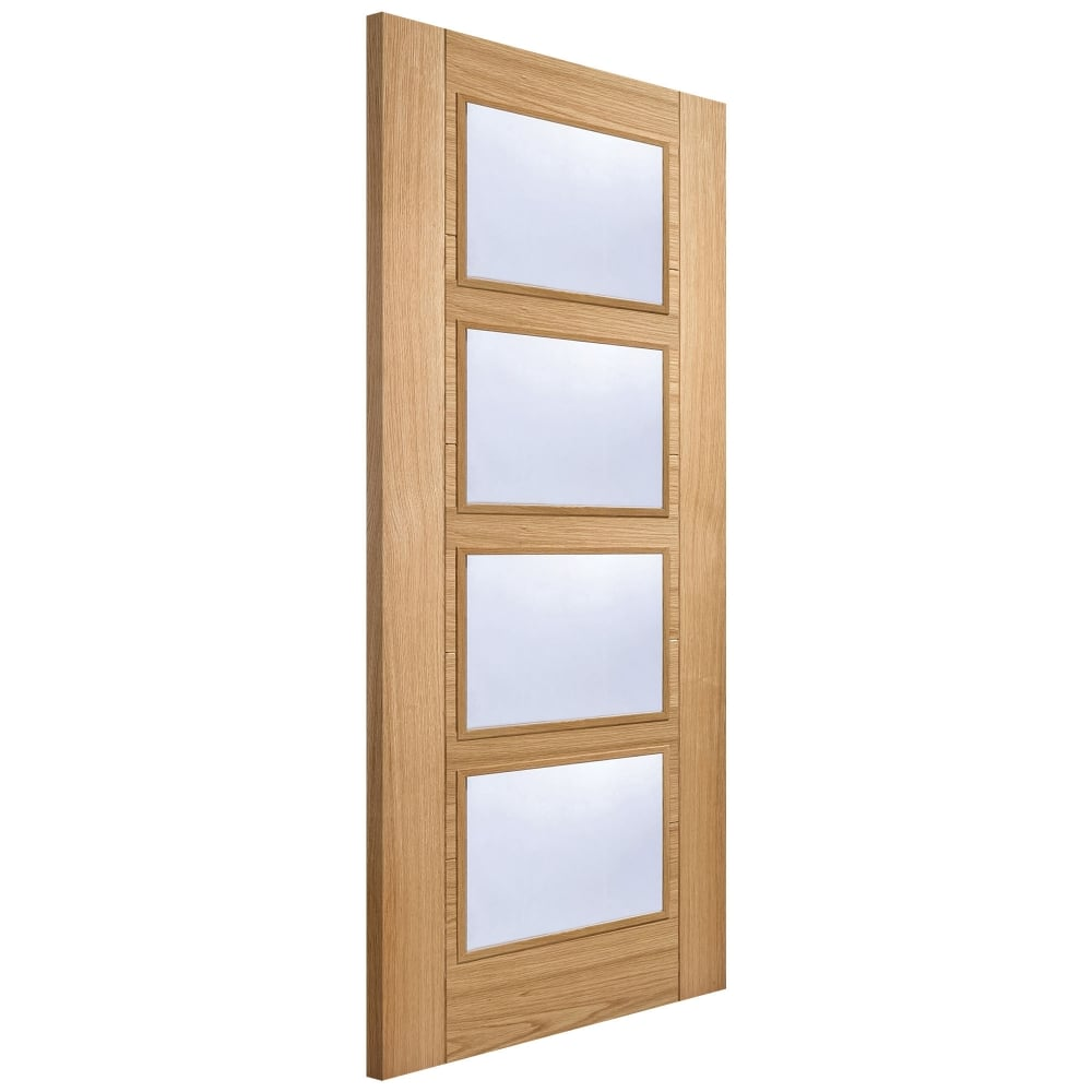 Internal Oak Fully Finished Vancouver 4L Door with Clear Glass  sc 1 st  Leader Doors & LPD Internal Oak Fully Finished Vancouver 4L Door with Clear Glass ...