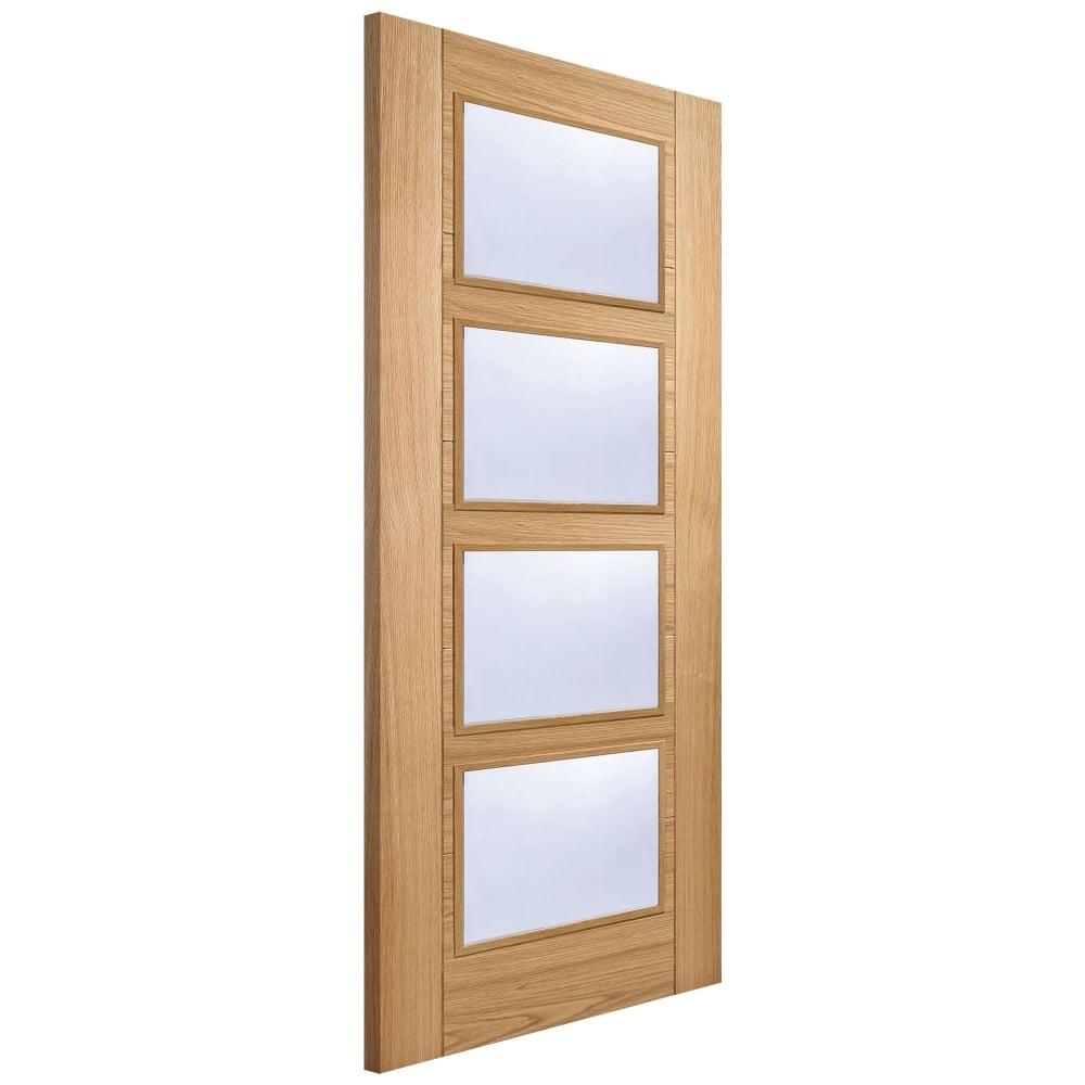 Internal Oak Fully Finished Vancouver 4L FD30 Fire Door with Clear Glass (OVAN4LFC)  sc 1 st  Leader Doors & LPD Internal Oak Pre-Finished Vancouver Glazed Door | Leader Doors