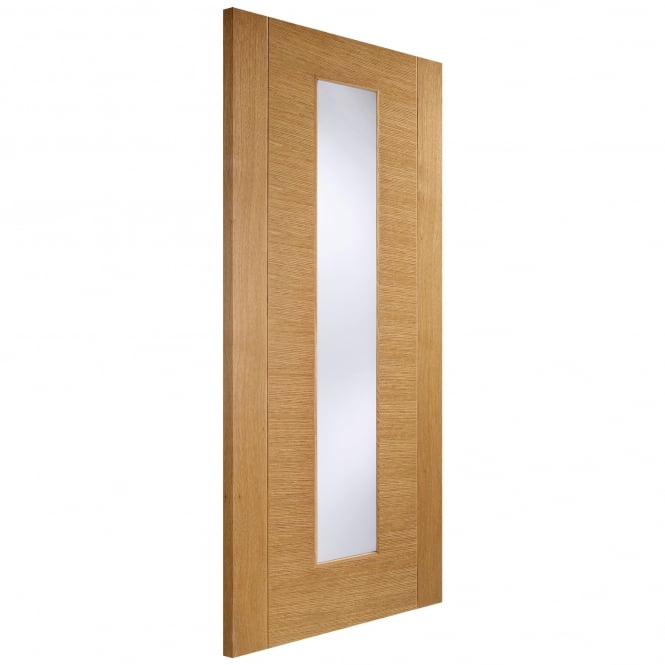 LPD Doors Internal Oak Pre-Finished Aragon Europa Door with Frosted Glass