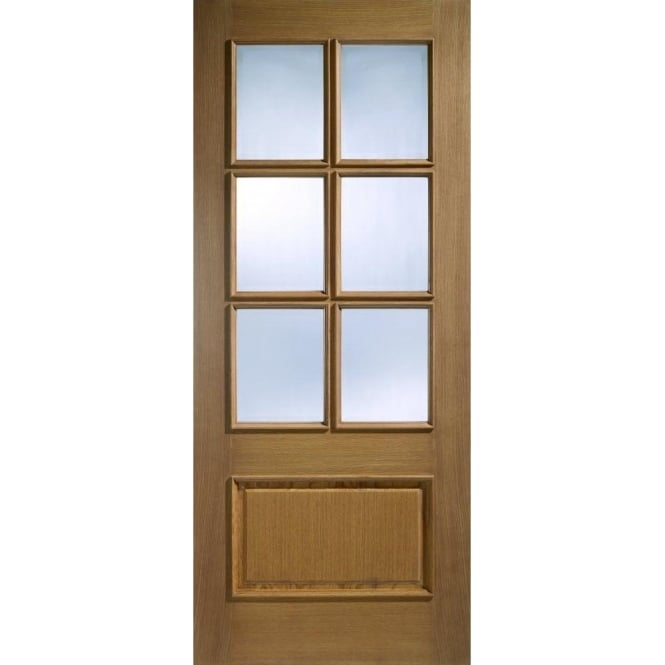 LPD Doors Internal Oak Pre-Finished Cantabria 1 Panel / 6 Light Europa Door