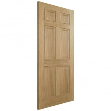 LPD Doors Internal Oak Pre-Finished Regency 6 Panel Door