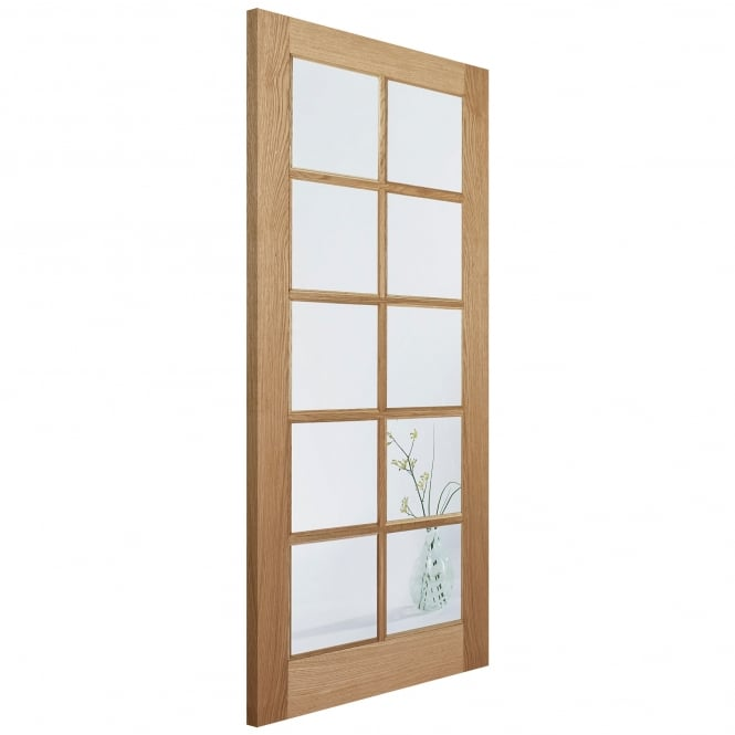 LPD Doors Internal Oak SA 10 Light Door with Clear Glass