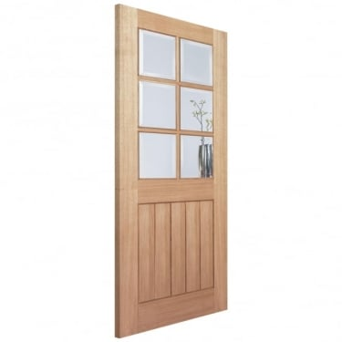 LPD Internal Oak Unfinished Mexicano 6 Light Contemporary Door