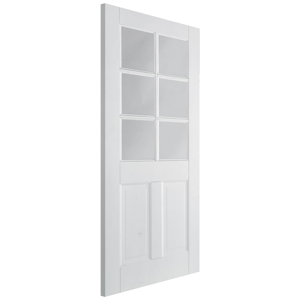 Lpd canterbury white primed door leader doors - White doors with glass internal ...
