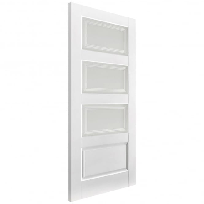 LPD Doors Internal Solid White Primed Contemporary 3 Light / 1 Panelled Door with Frosted Glass