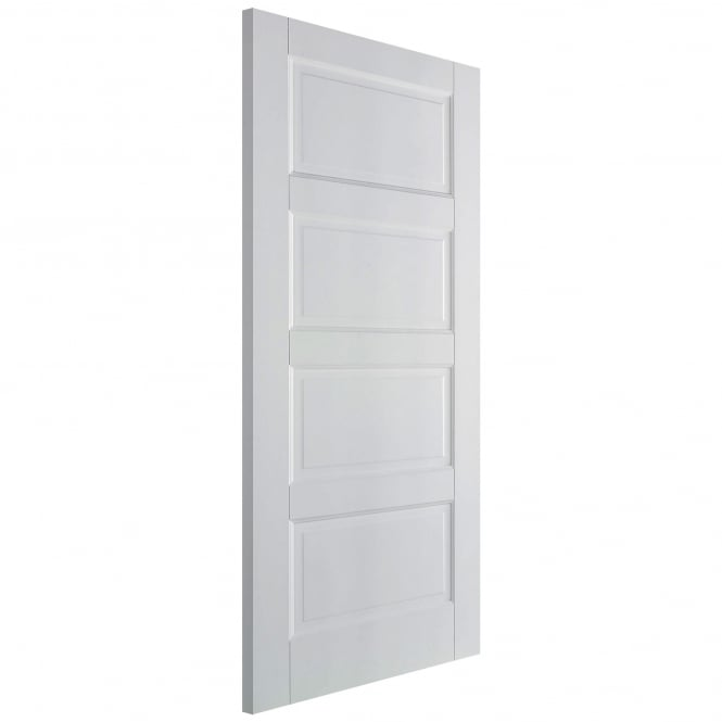 Internal Solid White Primed Contemporary 4 Panel Fire Door
