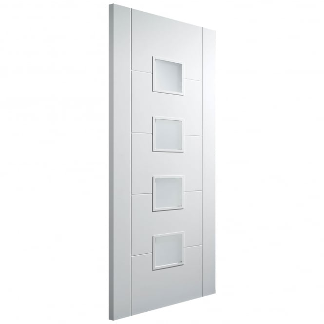 LPD Doors Internal Solid White Primed Florida 4 Light Frosted Glazed Door