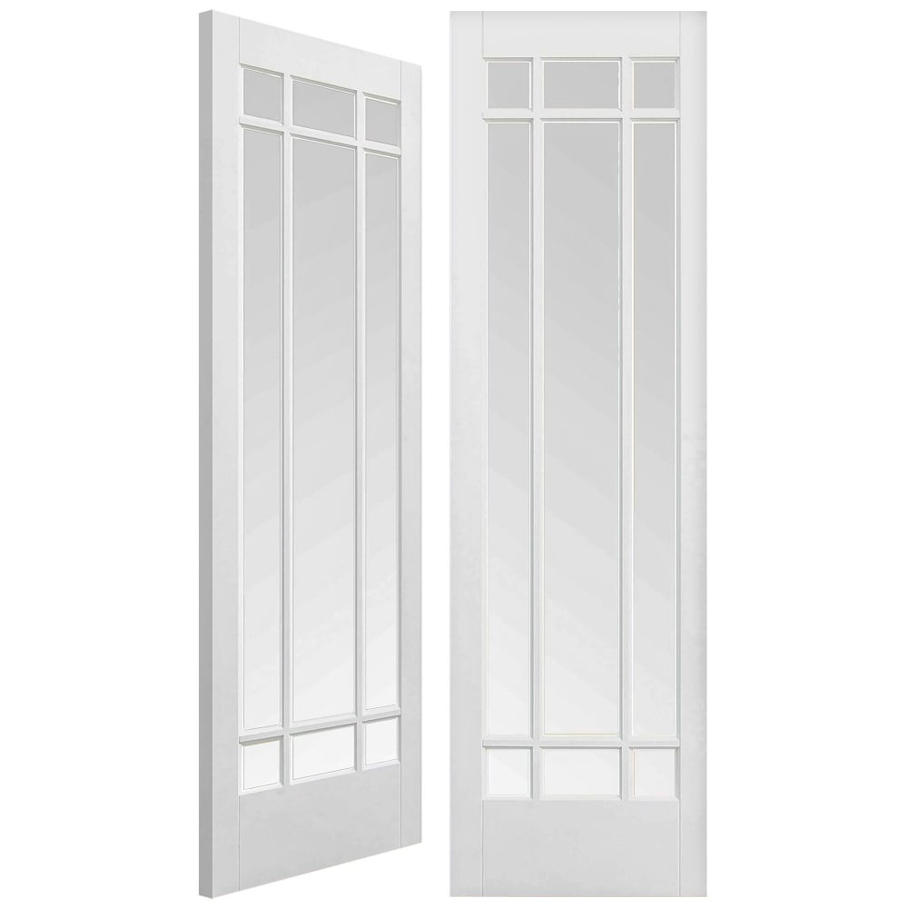 Lpd manhattan white primed pair door leader doors - White doors with glass internal ...