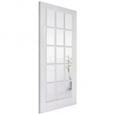 LPD Doors Internal Solid White Primed SA 15L Door with Clear Glass