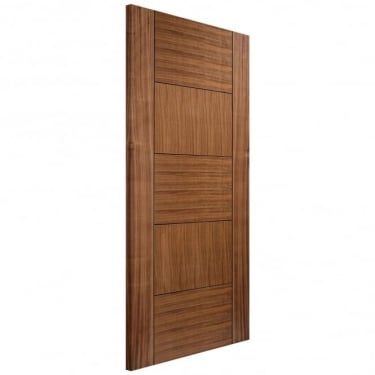 LPD Internal Walnut Fully Finished Quebec Supermodel Fire Door