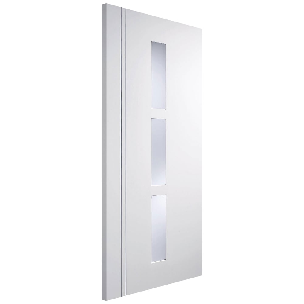 Lpd sierra blanco europa white primed obscure glass - White doors with glass internal ...