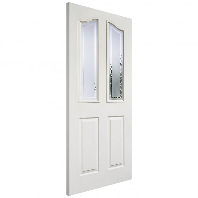LPD Internal White Moulded Mayfair 2P/2L Door With Frosted Glass