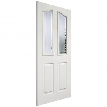 LPD Doors Internal White Moulded Mayfair 2P/2L Door With Frosted Glass