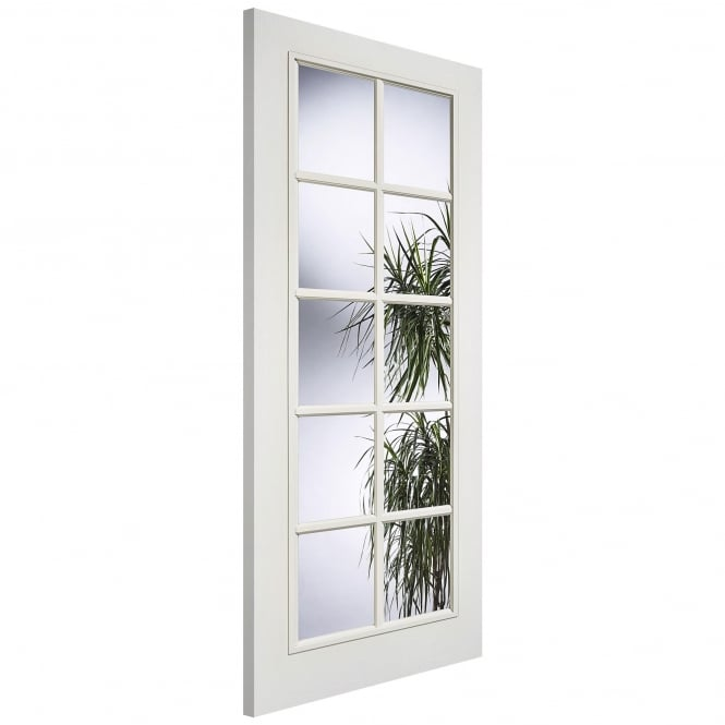 LPD Internal White Moulded SA 10L Door With Clear Glass