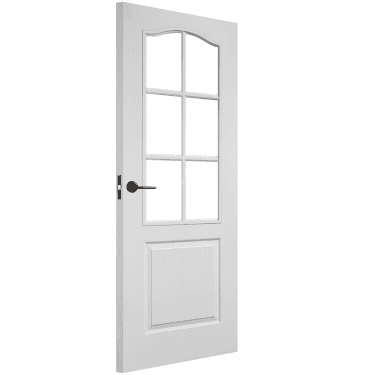 Internal White Moulded Unfinished Classic 6L Door with Clear Glass