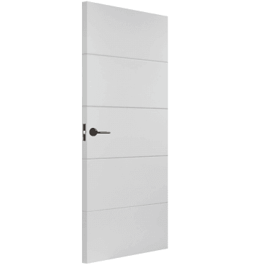 Internal White Moulded Unfinished Smooth Horizontal FD30 Fire Door