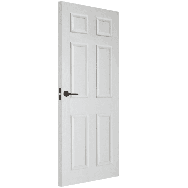 Internal White Moulded Unfinished Textured 6P Square Top FD30 Fire Door