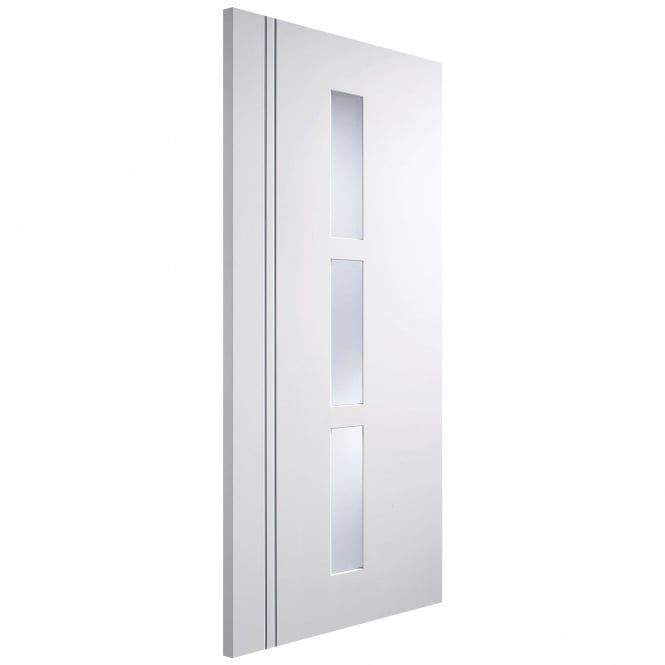 LPD Doors Internal White Pre-Finished Sierra Blanco Europa Door with Frosted Glass