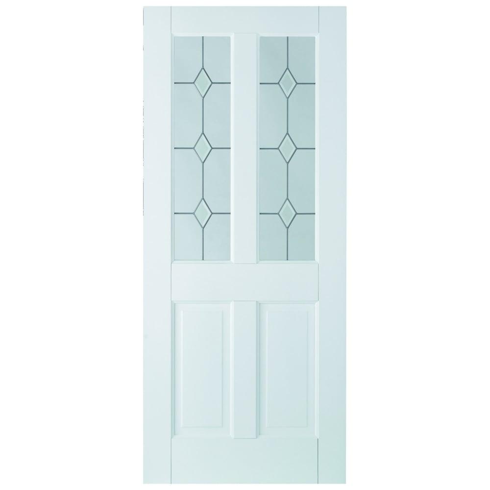 Internal White Primed Canterbury 2L Door with Diamond Bevelled Glass  sc 1 st  Leader Doors & LPD Doors Internal White Primed Canterbury Glazed Door   Leader Doors