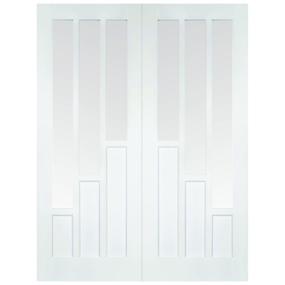 Lpd Doors Internal White Primed Coventry Glazed Door