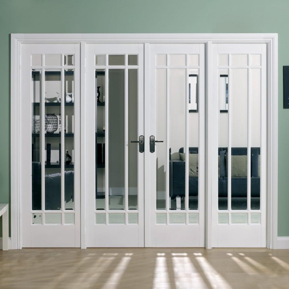 Internal White Primed Manhattan Room Divider & LPD Internal White Primed Manhattan Room Divider | Leader Doors
