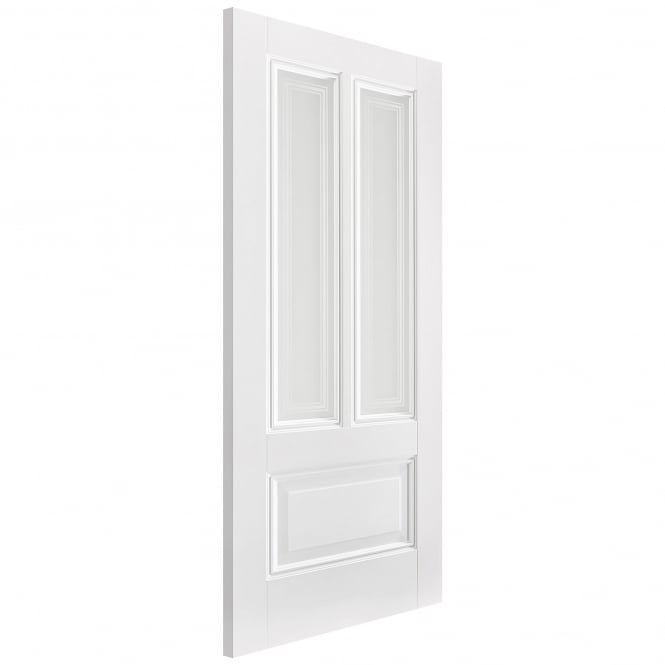 Internal White Primed Peony Door with Silkscreen Glass