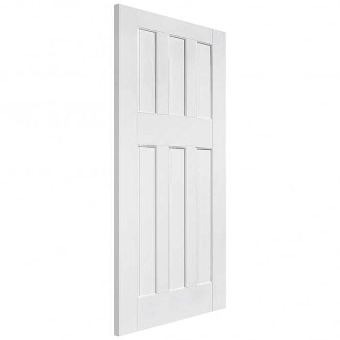 LPD Internal White Primed Solid Core DX 60s Style FD30 Fire Door