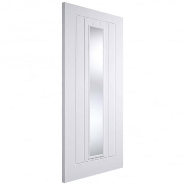 Internal White Primed Solid Core Glazed Mexicano Door