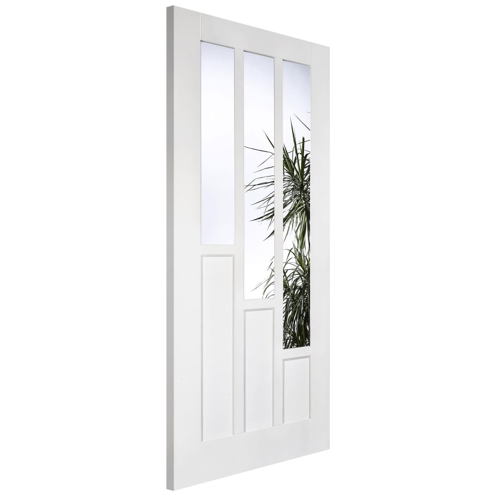 Lpd coventry white primed clear glass internal door - White doors with glass internal ...