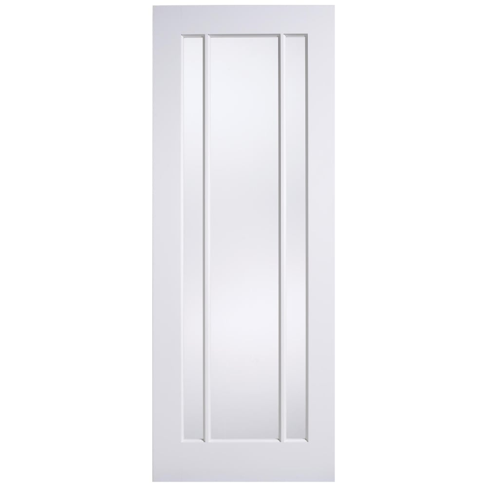 Lincoln Internal White Primed Door with Clear Glass  sc 1 st  Leader Doors & LPD Lincoln White Primed Clear Glass Internal Door | Leader Doors pezcame.com