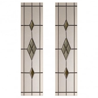 LPD Doors Malton 2 Piece Smoked ABE-Lead Glass Pack