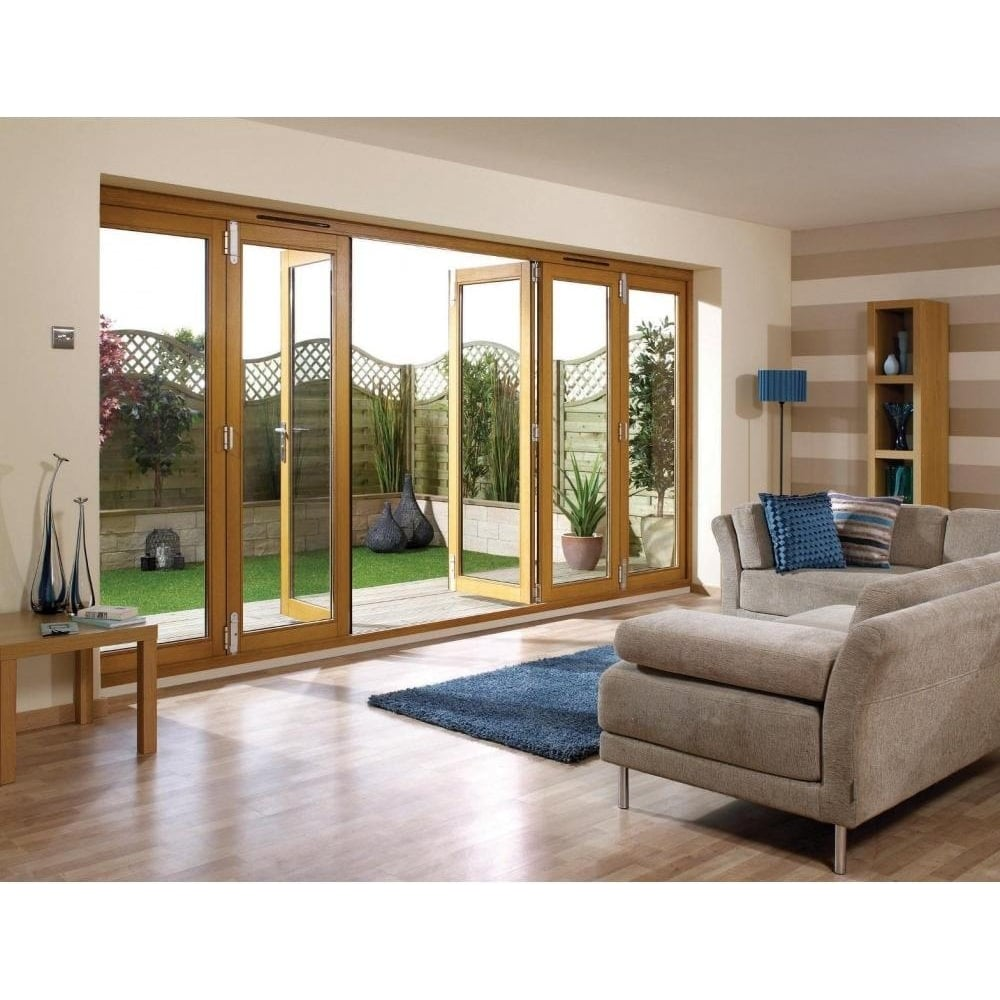 Lpd External Un Finished Oak Folding Sliding Patio Doors
