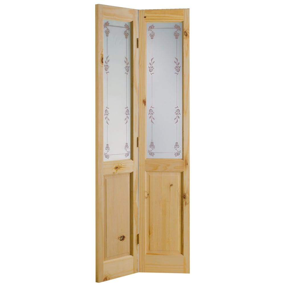 Knotty Pine Cabinet Doors: LPD Richmond Knotty Pine Un-Finished Bi-Fold Door