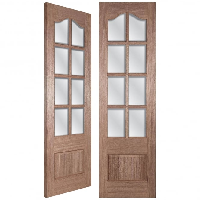 LPD Doors Senator IFG 50 Unfinished Internal Hardwood Pair Door with Clear Bevelled Glass