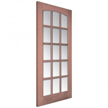 Senator Imperial Unfinished Internal Hardwood Door with Clear Bevelled Glass
