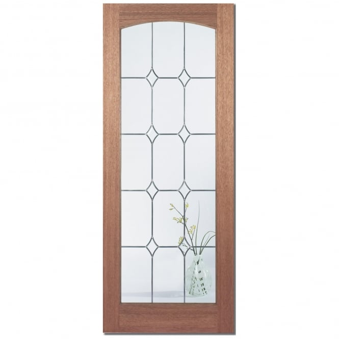 LPD Doors Senator Imperial Unfinished Internal Hardwood Door with Diamond Bevelled Glass