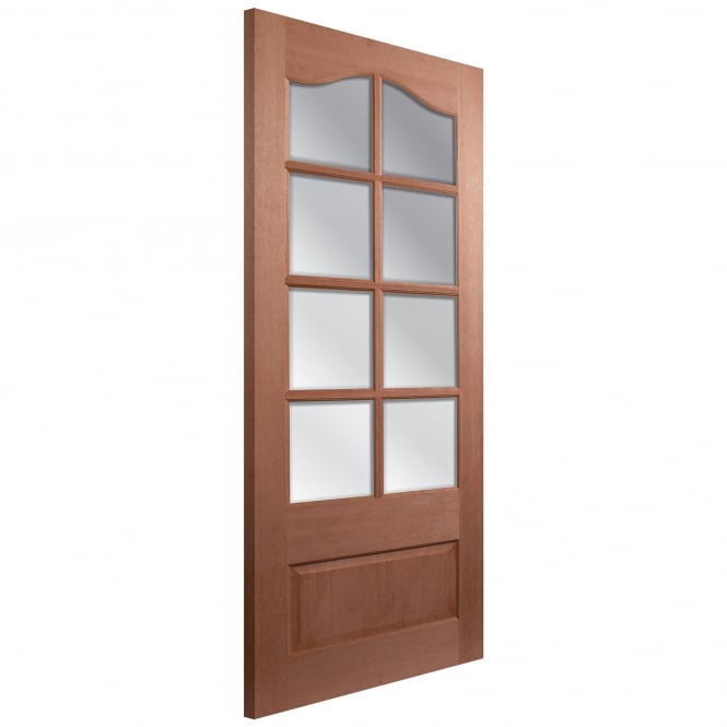 LPD Doors Senator Kent Unfinished Internal Hardwood 8 Light Door with Clear Bevelled Glass