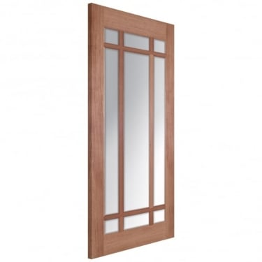 LPD Doors Senator Lyon Unfinished Internal Hardwood Door with Clear Bevelled Glass