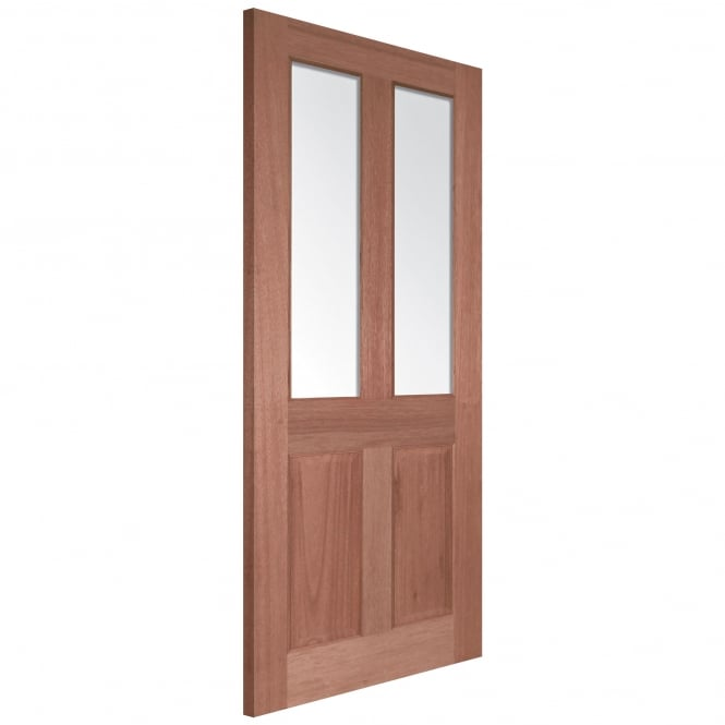 LPD Doors Senator Malton Unfinished Internal Hardwood Door with Clear Bevelled Glass