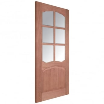 LPD Doors Senator Riviera Unfinished Internal Hardwood Door with Clear Bevelled Glass