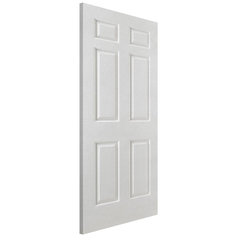 Lpd smooth white moulded panelled 6 panel internal door for Moulded panel doors