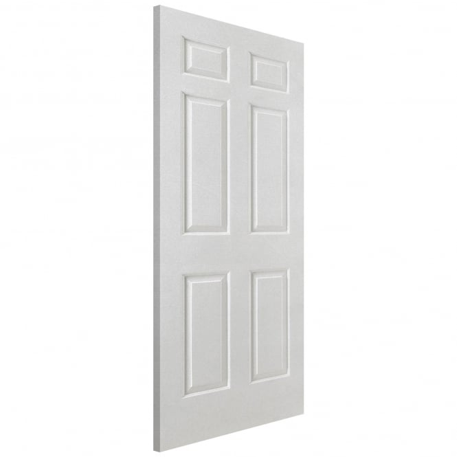 Smooth Internal White Moulded 6 Panel Fire Door