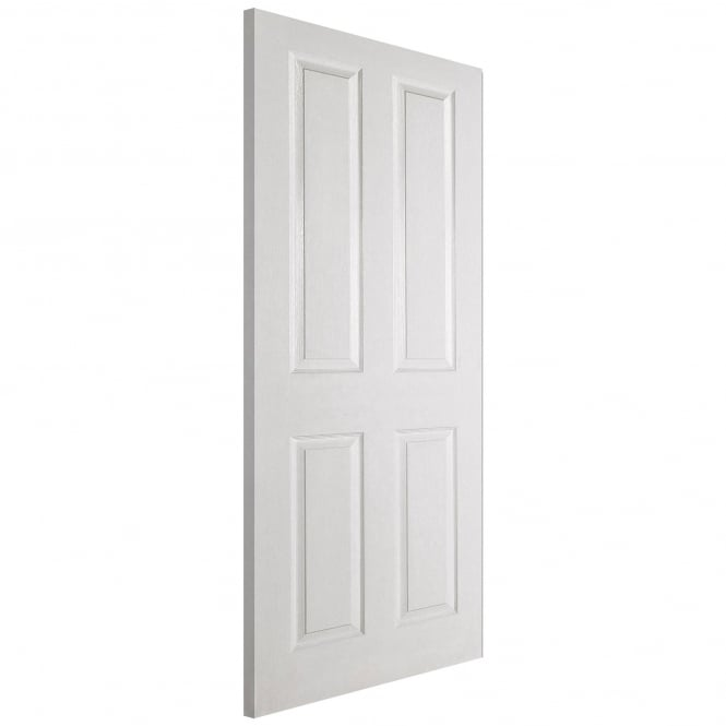 LPD Textured Internal White Moulded 4 Panel Fire Door