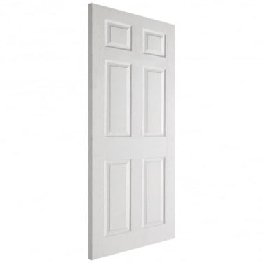 Textured Internal White Moulded 6 Panel Fire Door