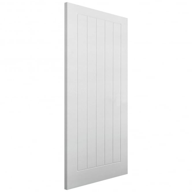 LPD Textured Internal White Moulded Vertical 5 Panel Fire Door