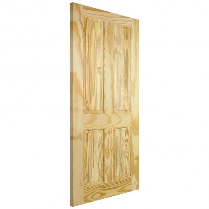 LPD Unfinished Internal Clear Pine 4 Panel Door