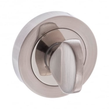 Mediterranean WC Turn and Release On Round Rose - Satin Nickel/Nickel Plated (MWCSNNP)